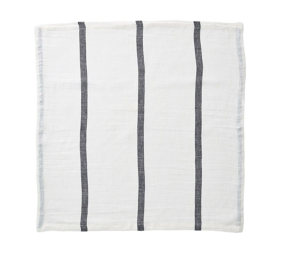 PROVENCE NAPKIN IN IVORY & BLACK