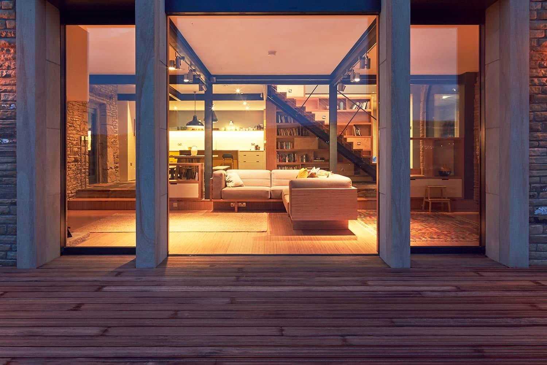 Terrasse antidérapante résidentielle