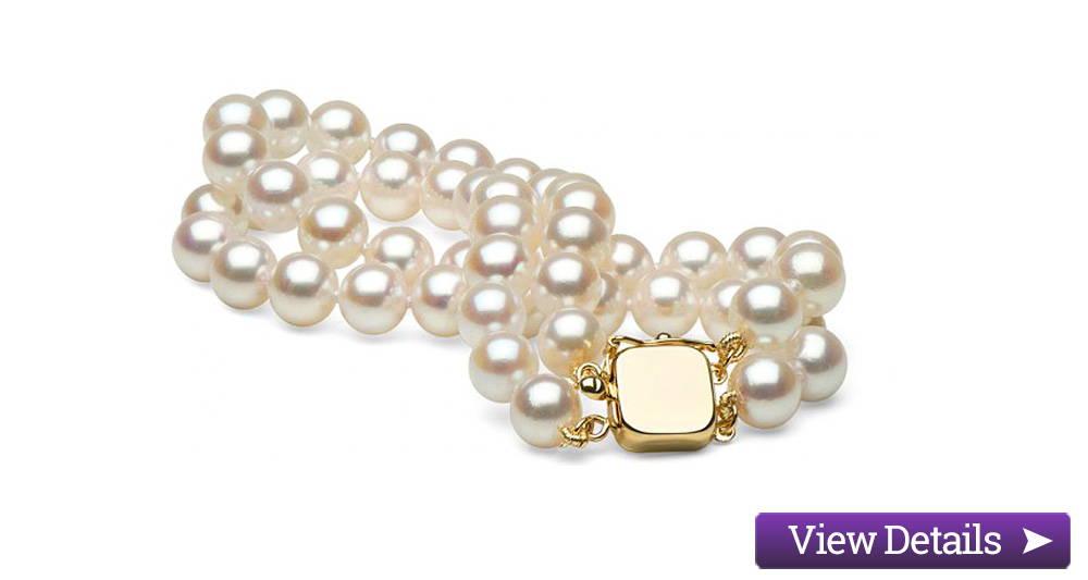 Akoya Pearl Jewelry Styles: Double Strand Pearl Bracelets