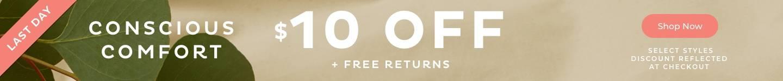 $10 Off  + Free Returns