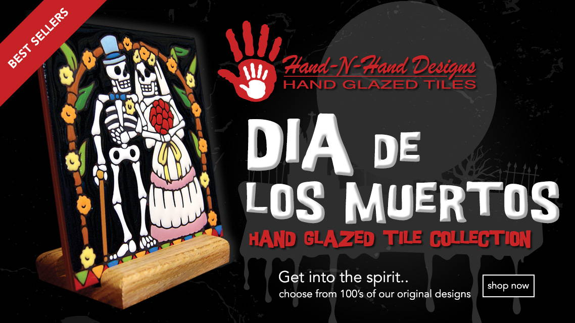 Dia de los Muertos Hand Glazed Tile Collection - Best Selling Tiles - Shop Now