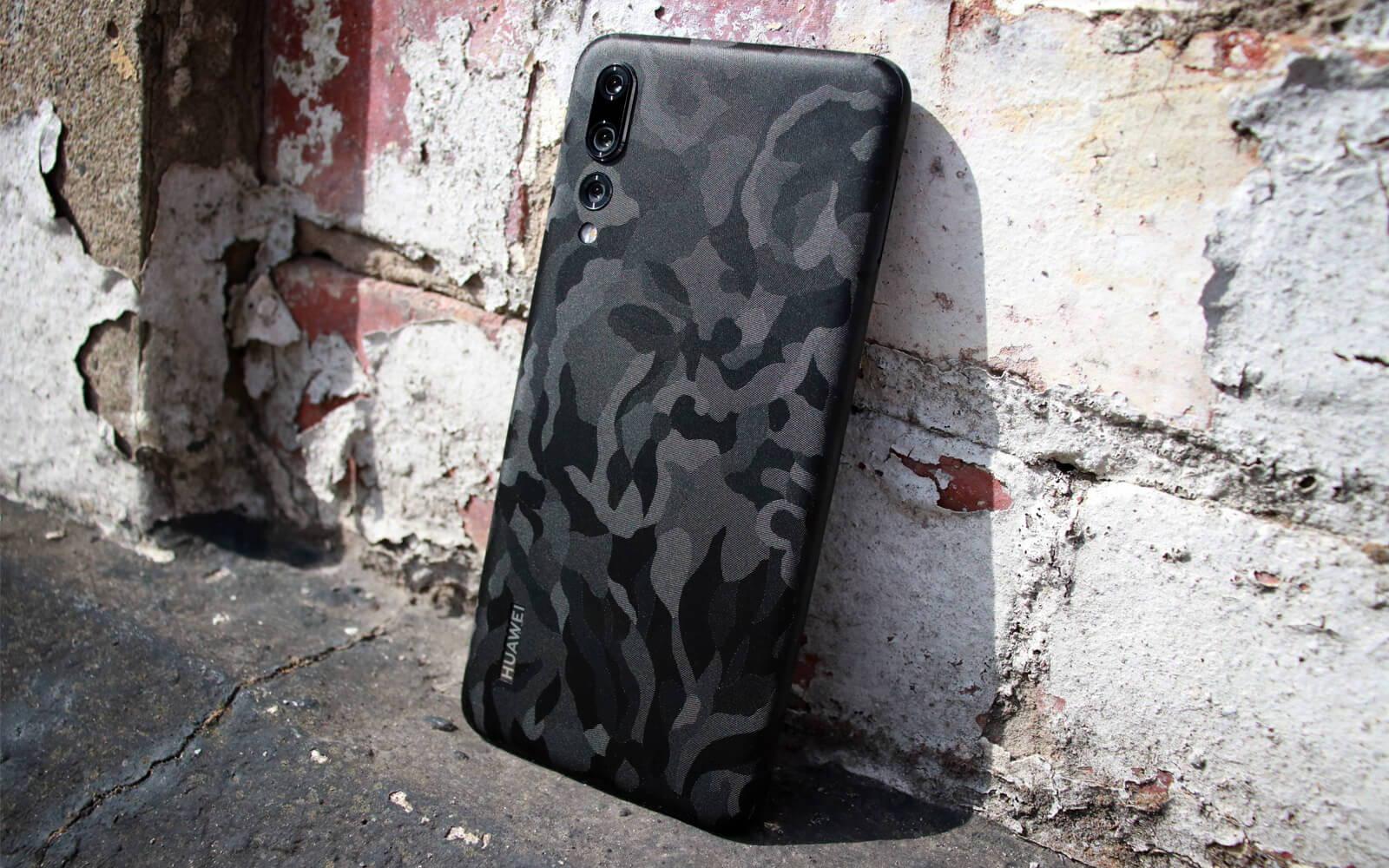 Huawei P20 Pro Black Camo Skins