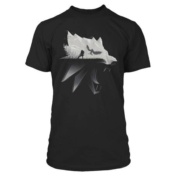 Product image of the The Witcher 3 Wolf Silhouette Premium Tee