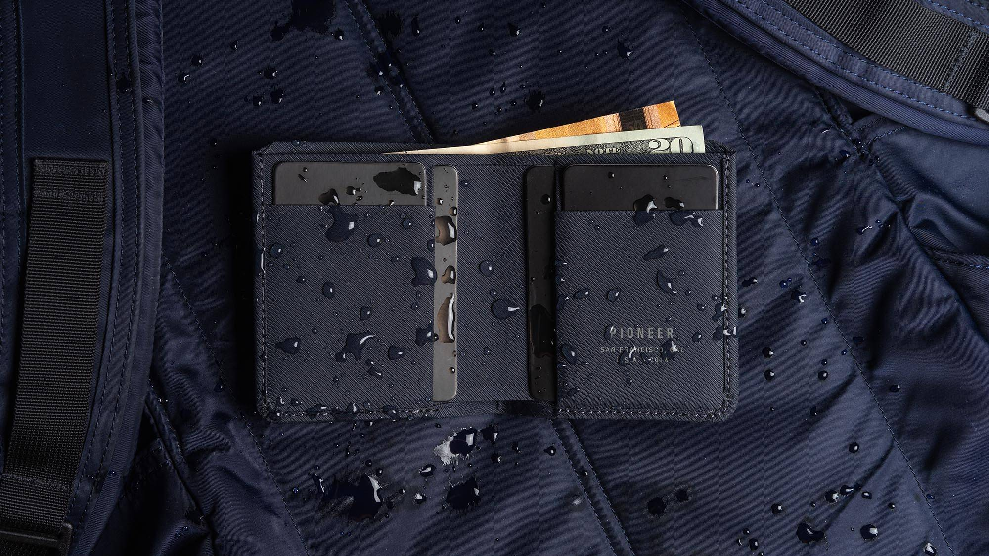 Altitude Billfold Wallet with Water droplets