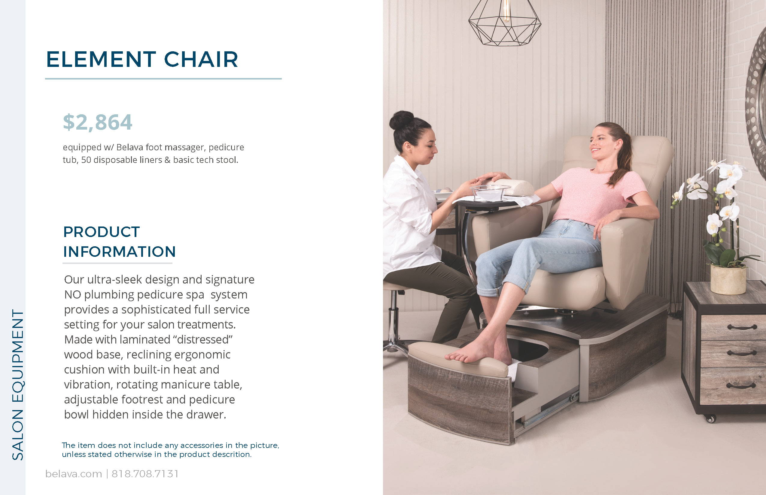Element Pedicure Chair by Belava