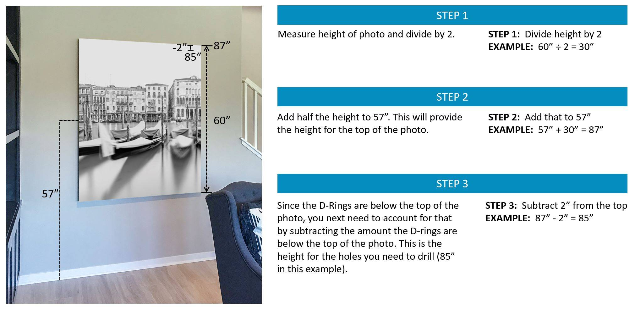 How to hang a photo