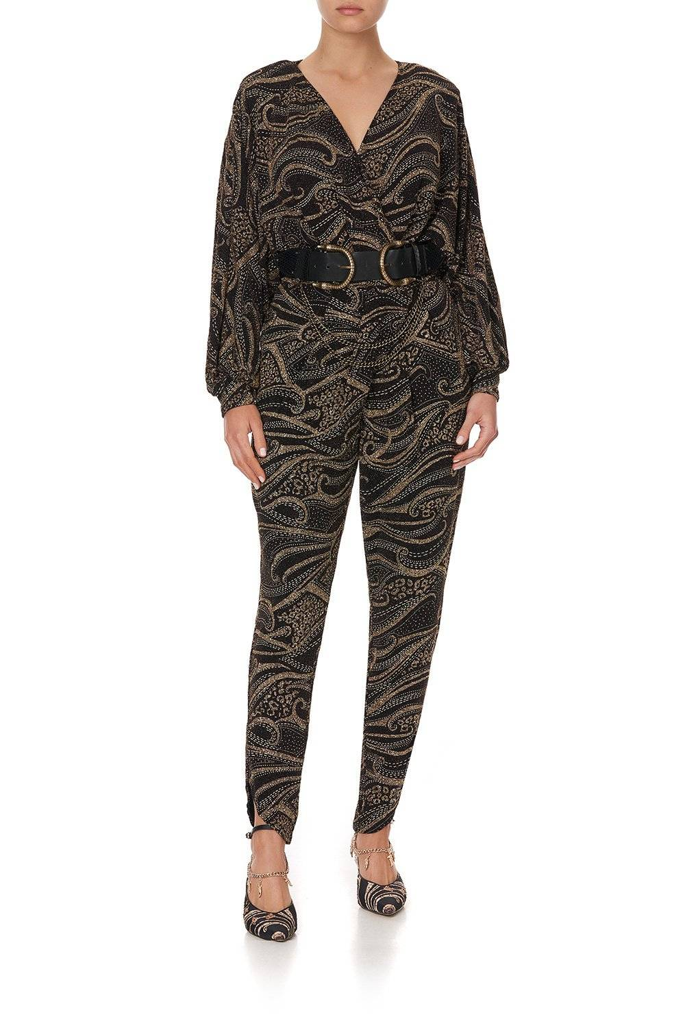 STUDIO 54 TWIST FRONT JUMPSUIT