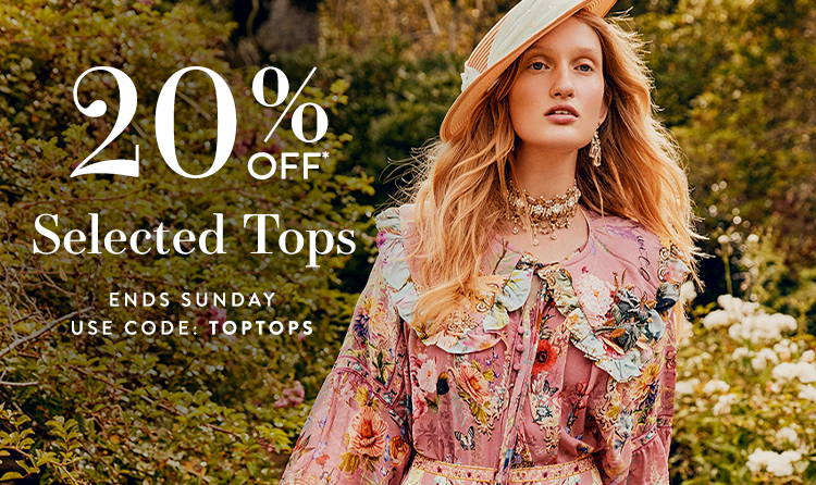 20% Off Selected Top | Use Code: TOPTOPS