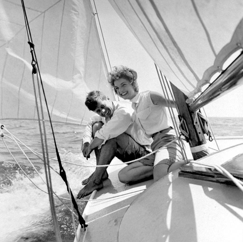 Life Magazine collection - JFK and his fiancée on the sail boat