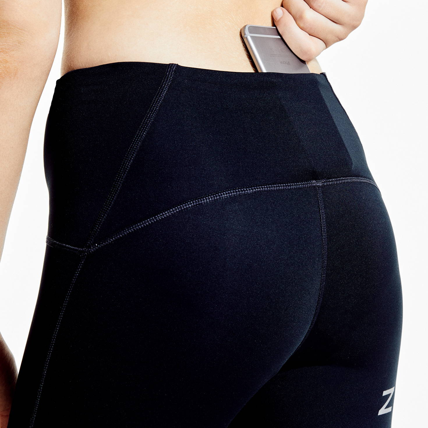 Womens-Reflective Silver-Performance-Tight-Pocket