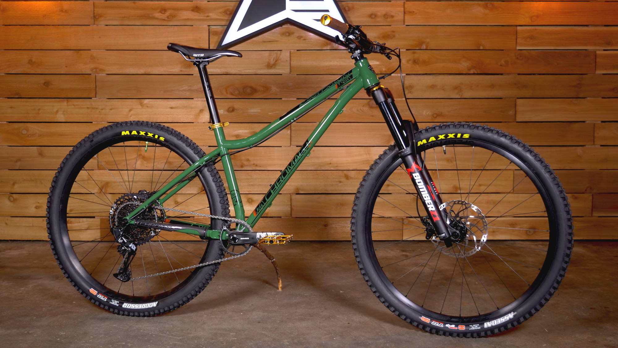 2019 2020 2021 chromag rootdown custom hunter green marzocchi budget maxxis sram nx eagle hardtail hard tail mtb mountain bike enduro