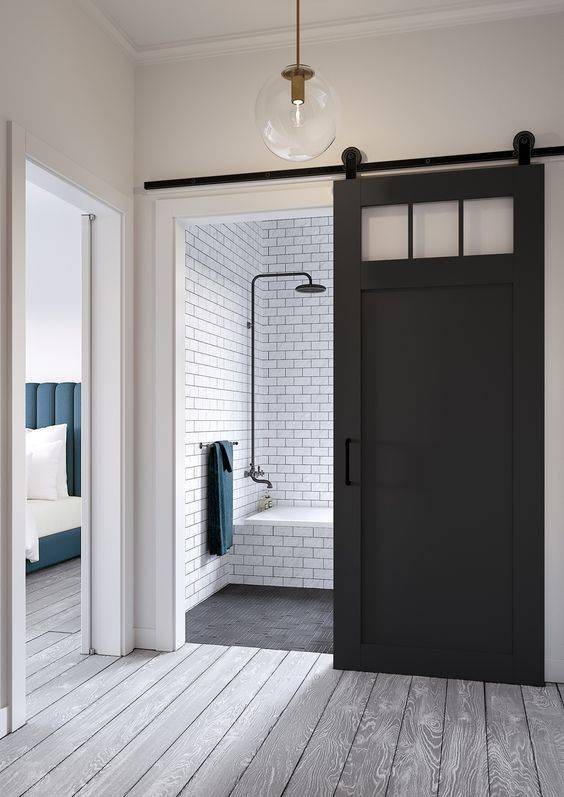 How to make your small space feel bigger: use barn doors