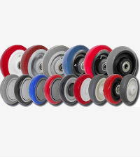 Rubber Caster Wheels - All Types