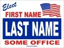 Political Campaign Sign Template #0040