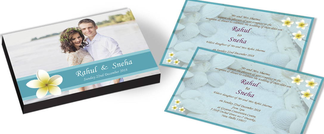 Personalised Invitation card for Indian Marriage