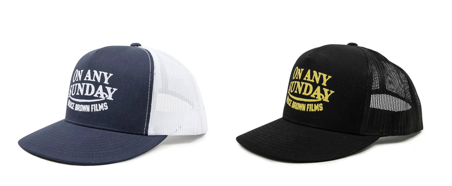 Iron & Resin X Bruce Brown Films On Any Sunday Trucker Hats