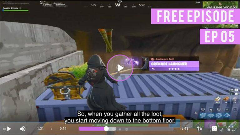Ettnix showing loot route in fortnite