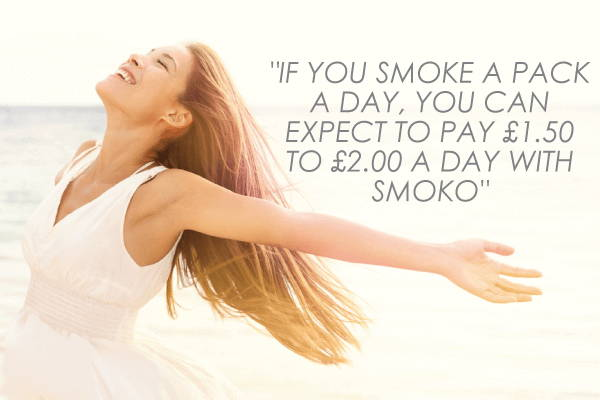 If you smoke a pack a day, you can expect to pay £1.50-£2 a day with SMOKO