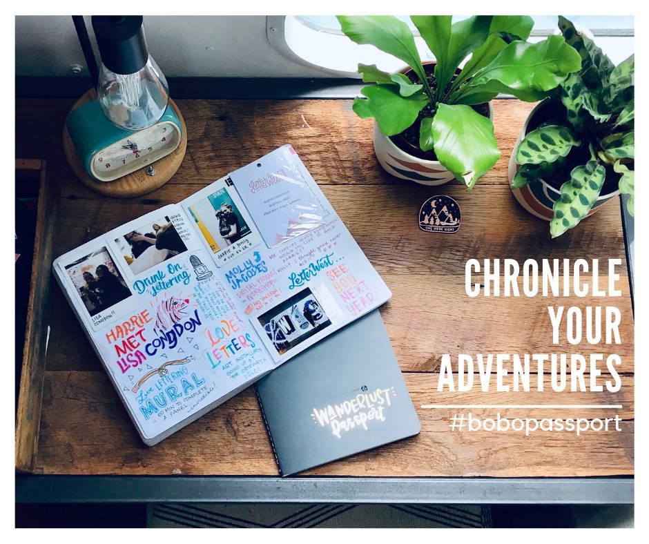 chronicle your adventures with bobo design studio Wanderlust Passport