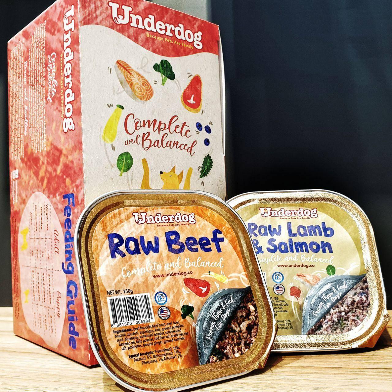 pawpy kisses underdog raw frozen dog food singapore