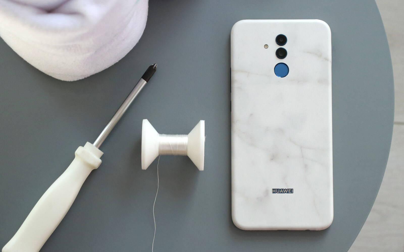 Huawei Mate 20 Lite White Marble Skins