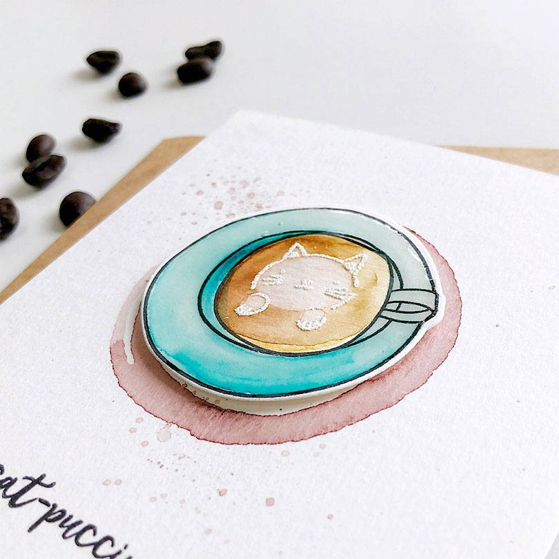 Essentials by Ellen Latte Love card by Julie Ebersole