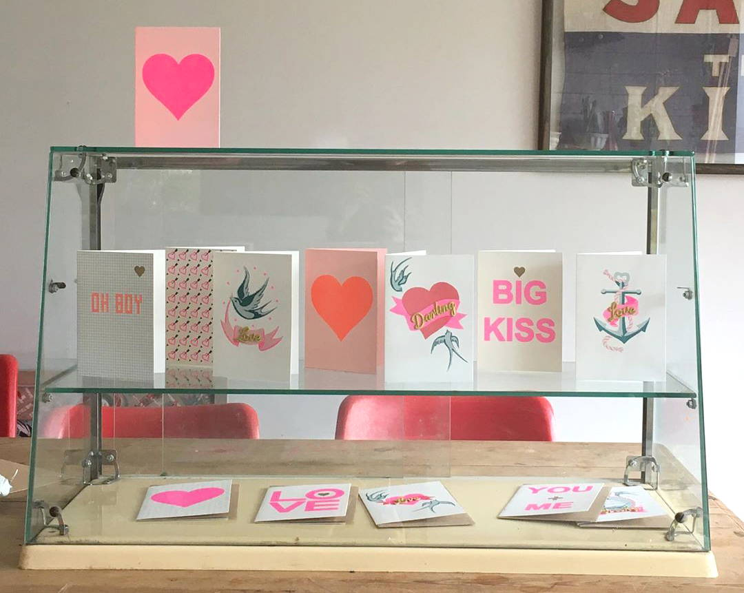 A display of Petra Boase cards