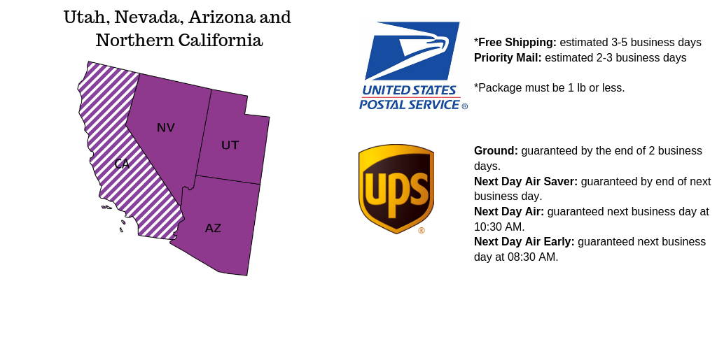 Southwest US Shipping Option from united states postal service and UPS