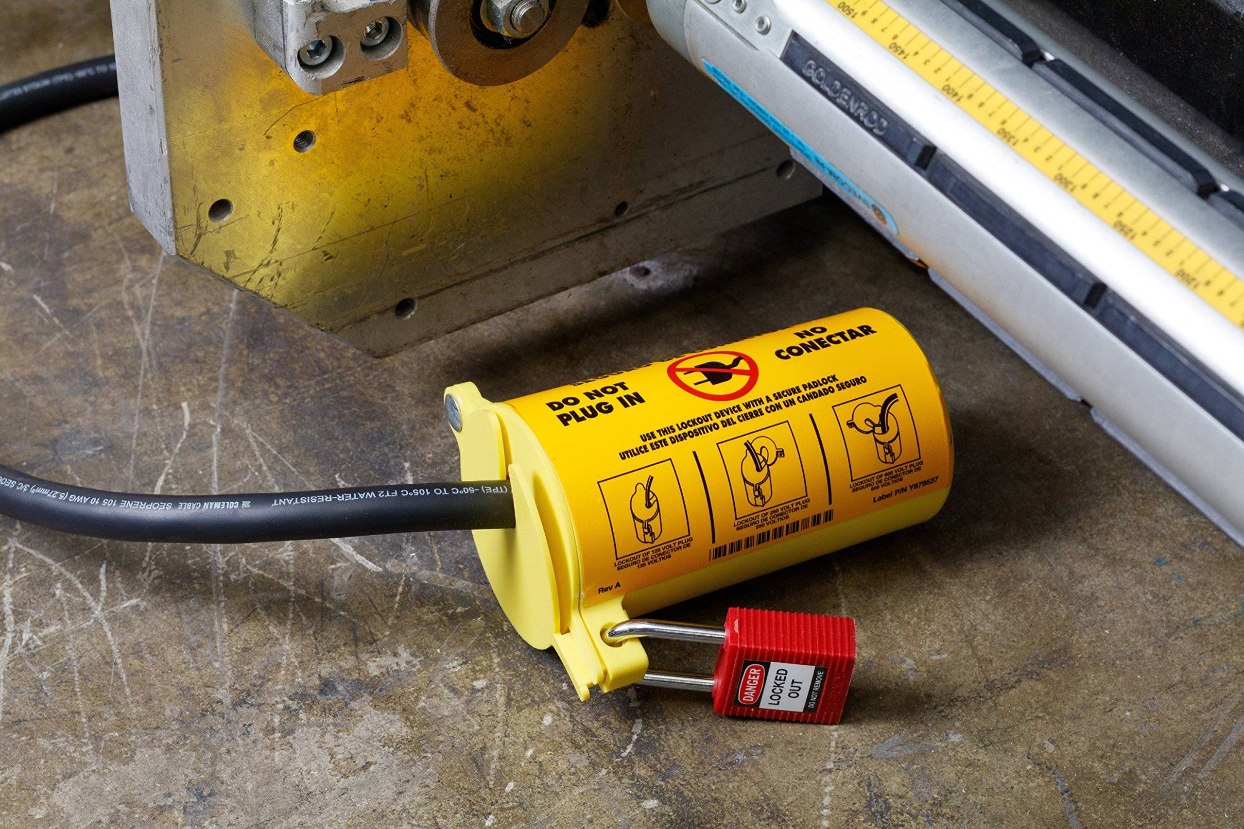 Lockout Tagout Device On A Plug