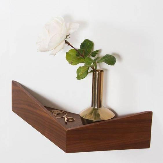 Tiny Bedside Table - Pelican Shelf