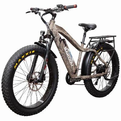 Bakcou 750W Flatlander Bafang Fat Tire Hunting Electric Bike