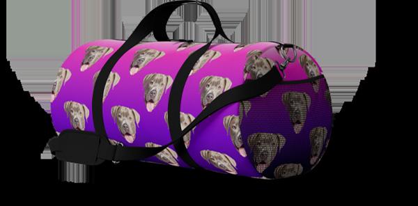 custom dog duffel bag