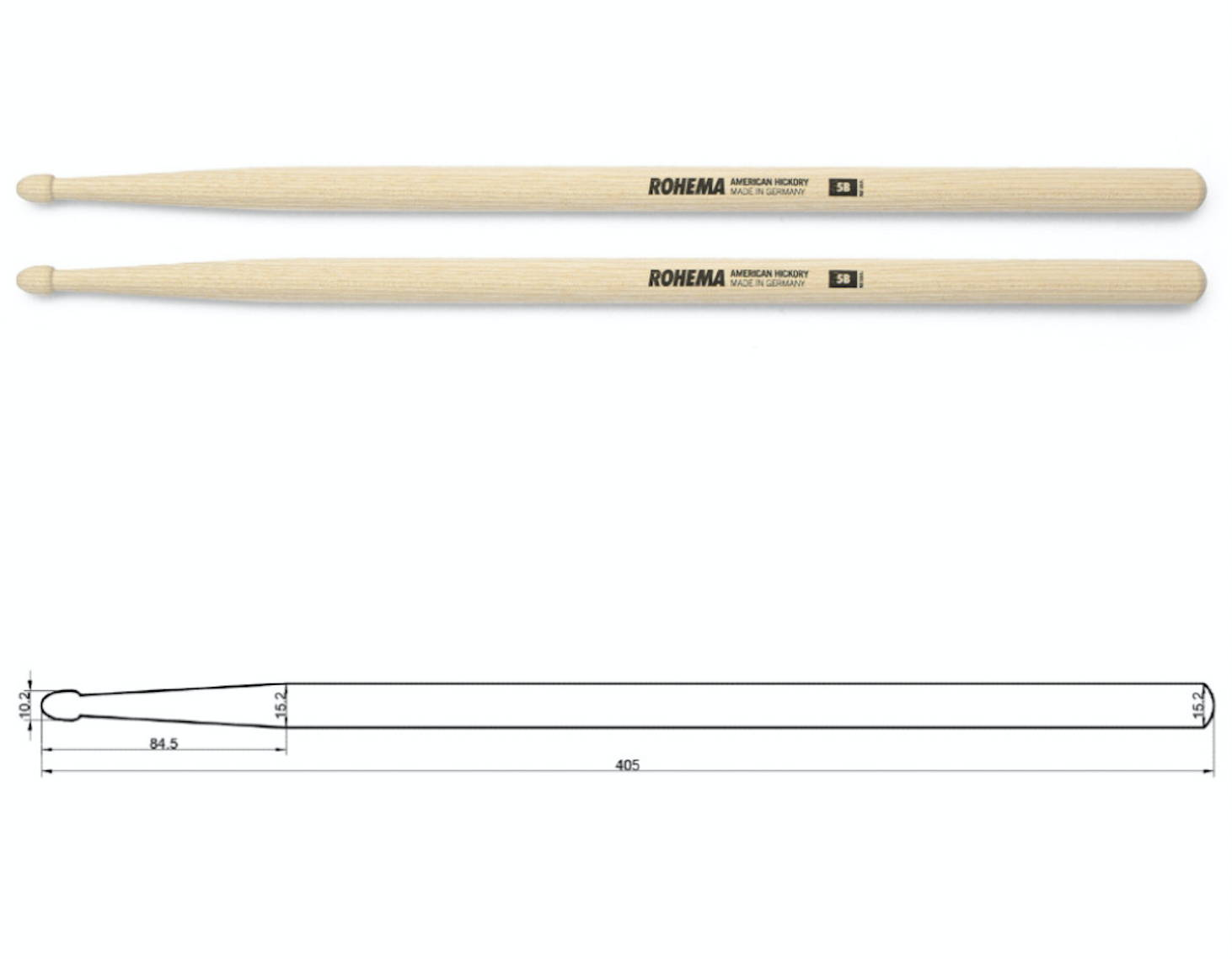 Rohema Natural 5B Drumsticks