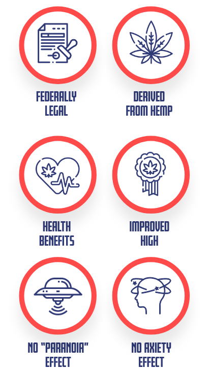 Delta 8 benefits infographic