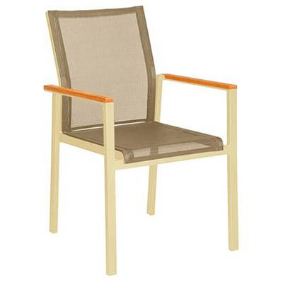 Modern Tan Outdoor Dining Chairs