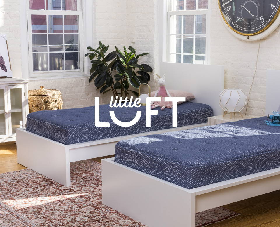 Little Luft mattress made with your kids in mind. Healthy sleep, quality craftsmanship made in the USA