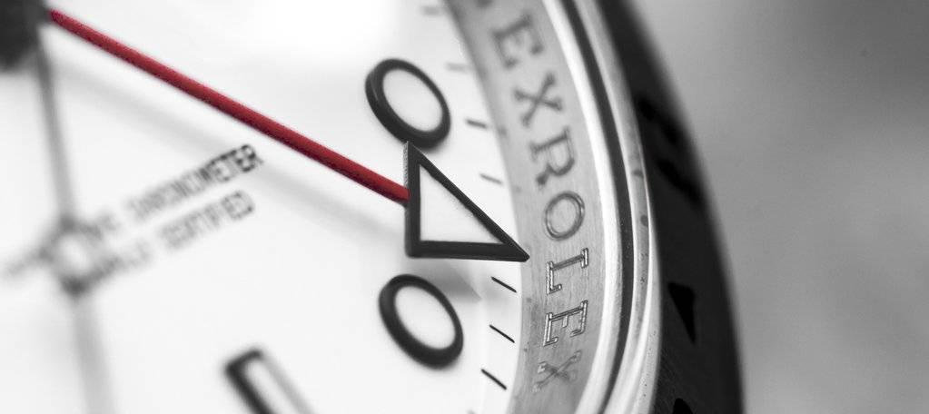 Face of a Rolex watch