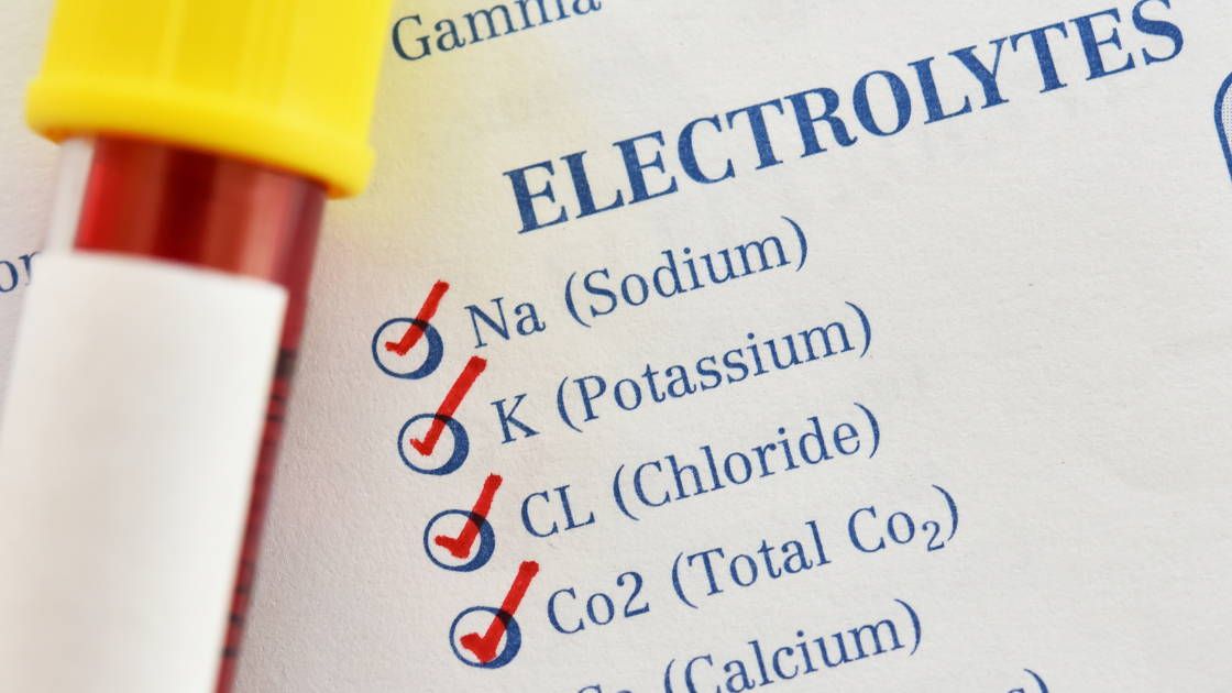 A list of electrolytes found in the body