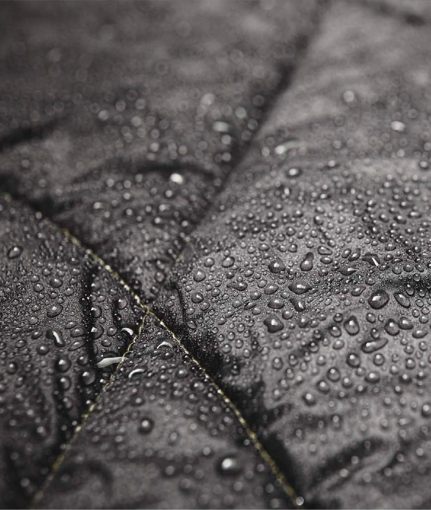Waterproof blanket water beading