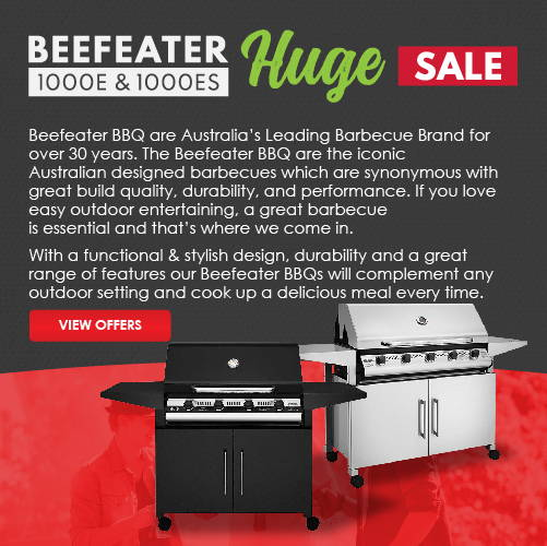 Beefeater BBQ are Australia's Leading Barbecue Brand for over 30 years. The Beefeater BBQ are the iconic Australian designed barbecues which are synonymous with great build quality, durability, and performance. If you love easy outdoor entertaining, a great barbecue is essential and that's where we come in. With a functional & stylish design, durability and a great range of features our Beefeater BBQs will complement any outdoor setting and cook up a delicious meal every time.