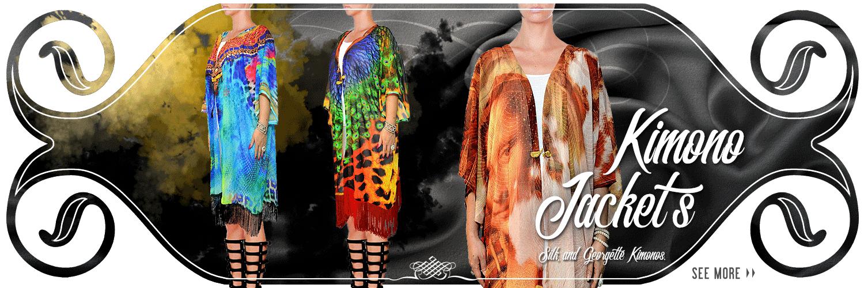 Kimono Style Shrugs in Georgette.