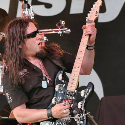 Michael Wilton of Queensryche recycled guitar string bracelets and jewelry