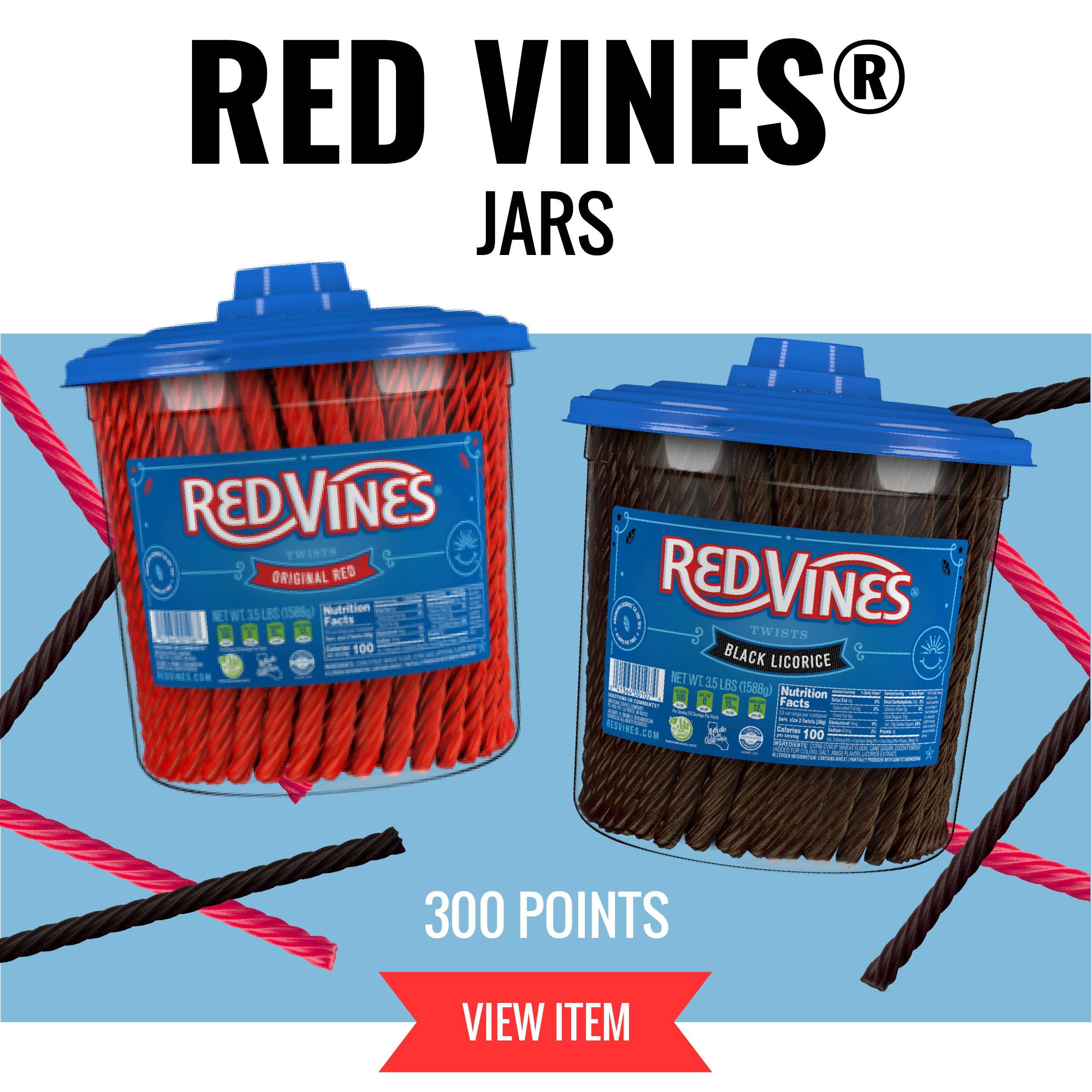 Red Vines Jars