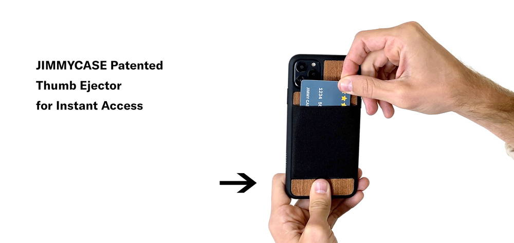 jimmycase iphone 11 wallet thumb ejector patented