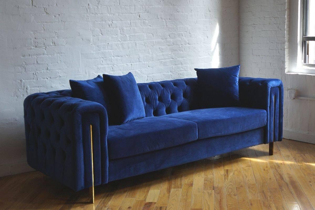 modern velvet chesterfield tufted couch sofa