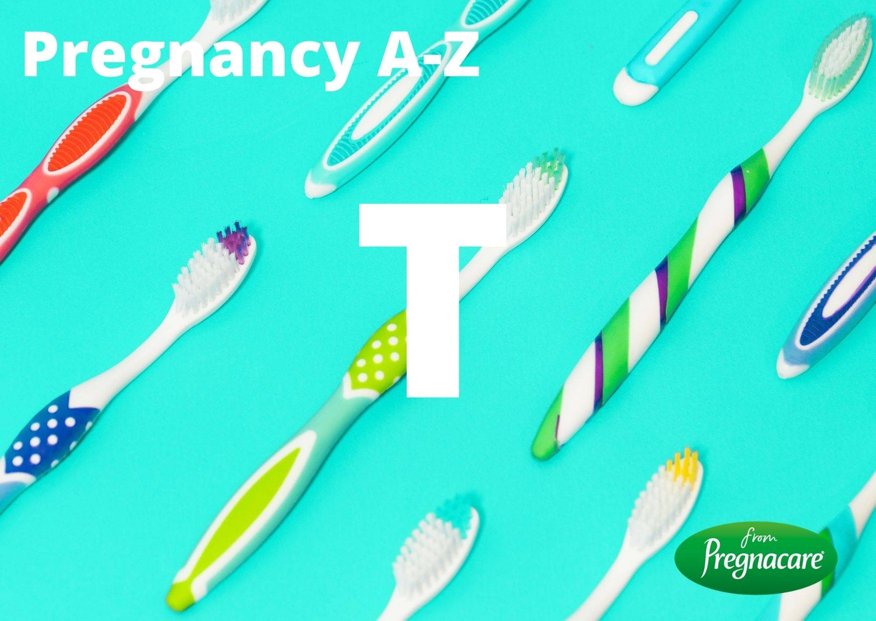 Letter T With Toothbrush Background