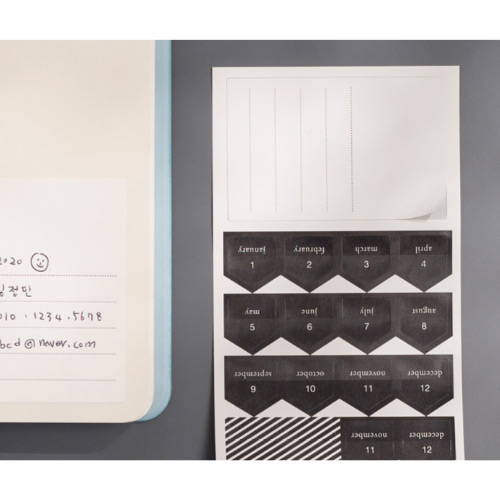 Index sticker - 2020 Notable memory B6 dated monthly planner