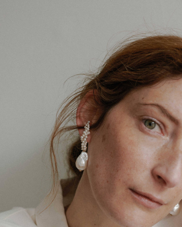 Completedworks pearl Gotcha earrings