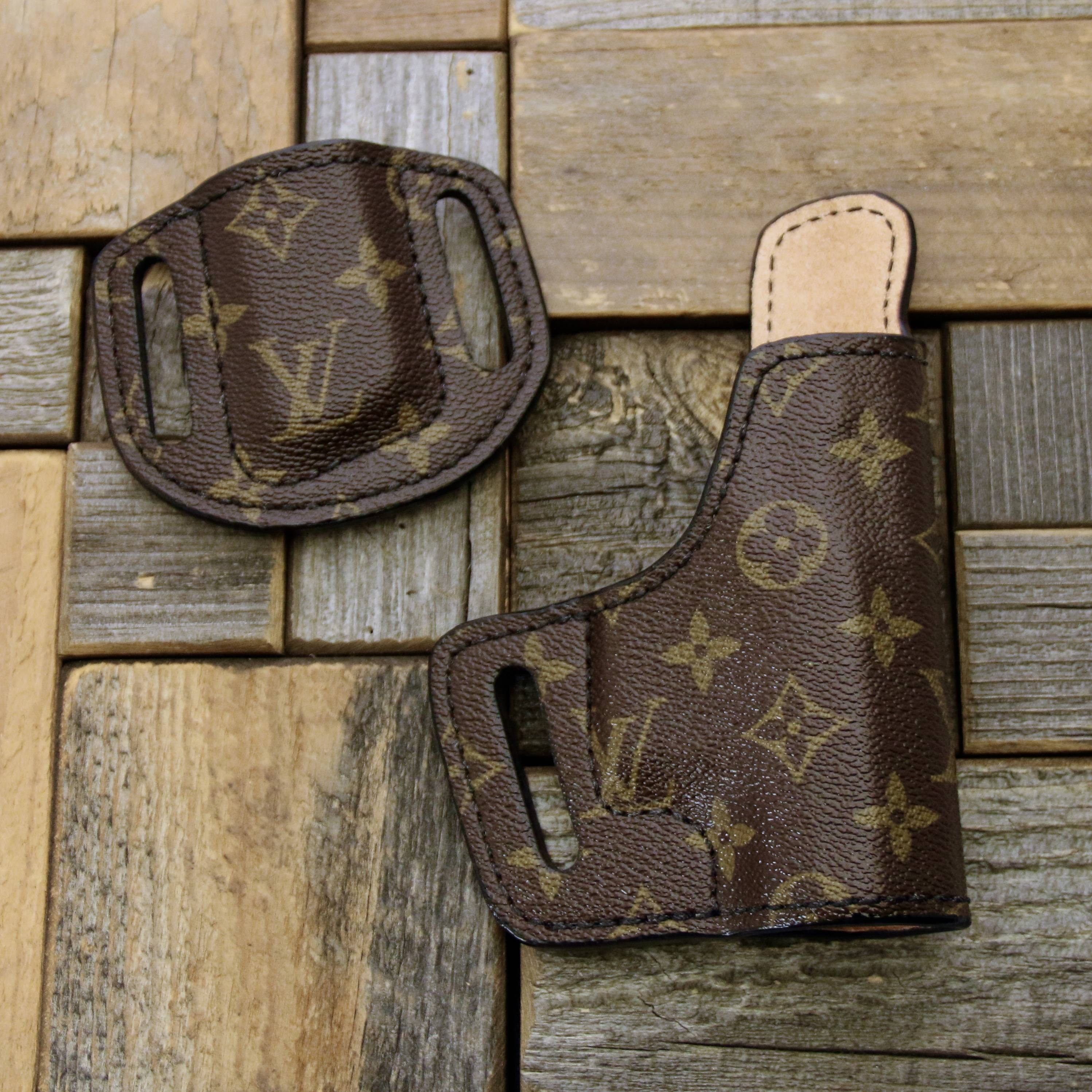 custom Louis Vuitton holster and mag holder