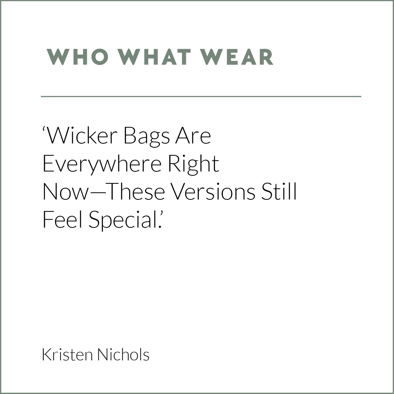 Who What Wear, Kristen Nichols, Wicker Bag, Rattan Bag, Eco Friendly Bag, Wicker Wings, Wicker Wings Bag